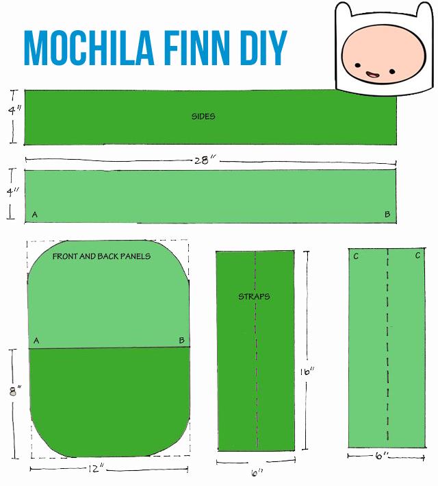 mochila finn diy