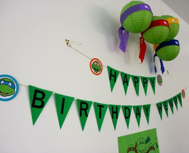 decoracion tortugas ninja