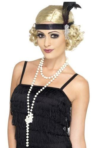 collar largo perlas