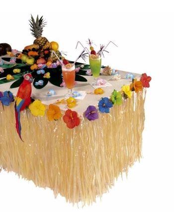 decoracion mesa hawaiana