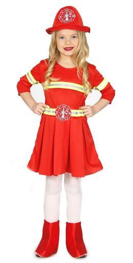 disfraz bombero niña