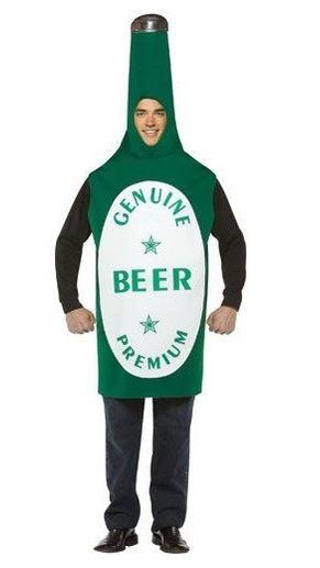 disfraz cerveza verde