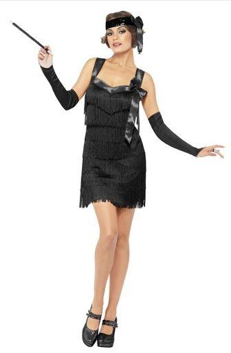 disfraz charleston años 20 negro