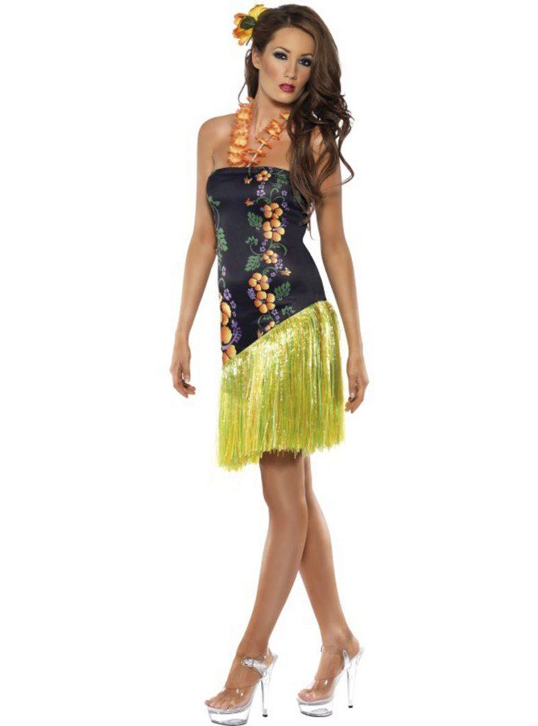 Disfraz de Hawaiana glamurosa mujer
