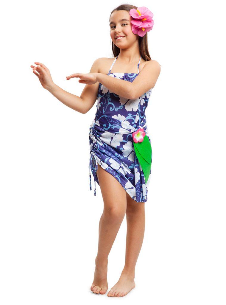 Disfraz de Hawaiana vestido niña