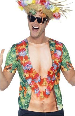 disfraz hawai hombre fiesta