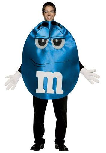 disfraz m&m azul