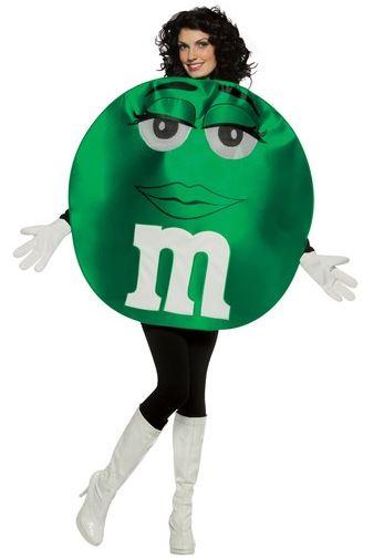 disfraz m&m verde