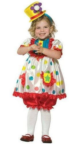 disfraz payaso niña alegre