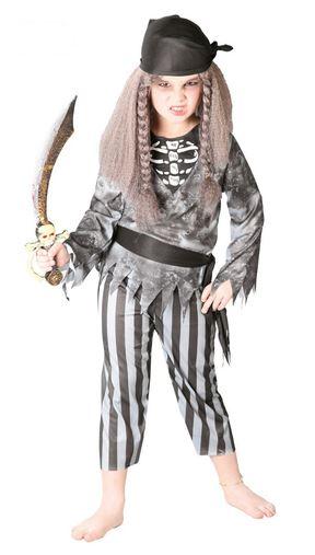 disfraz pirata niña fantasma