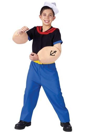 disfraz popeye niño