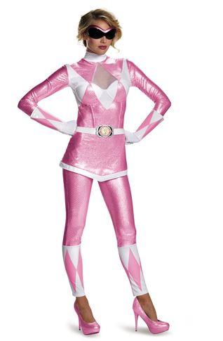 disfraz power ranger rosa
