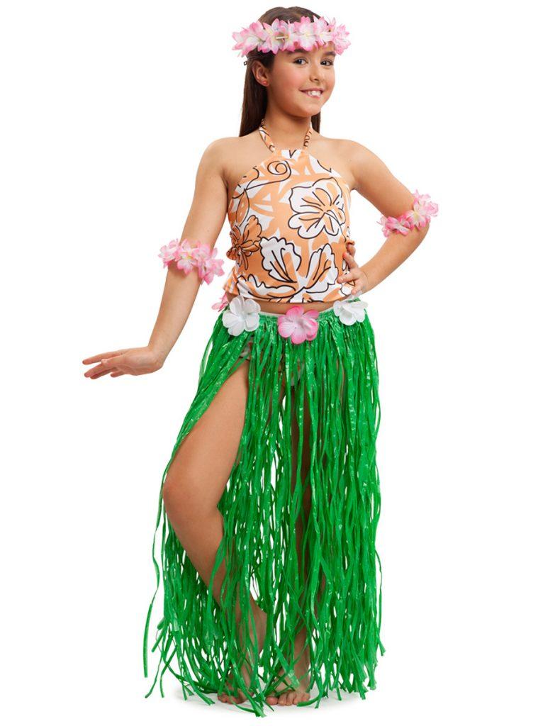 Disfraz de Hawaiana niña