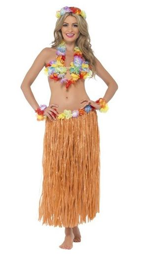falda hawaiana larga