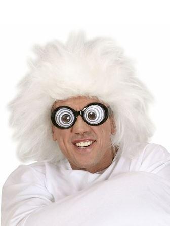 peluca científico loco