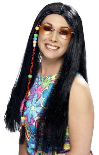 peluca hippie negra