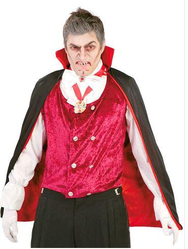 capa de vampiro con cuello alto halloween