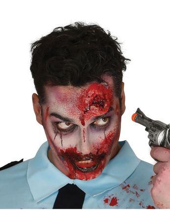 cicatriz herida de bala latex halloween