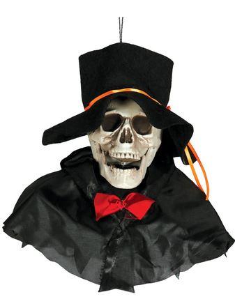 colgante decorativo halloween calavera con gorro
