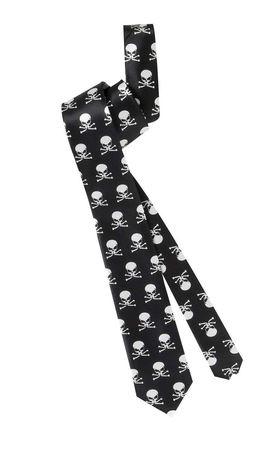 corbata halloween negra esqueletos