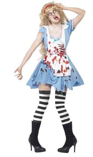 disfraz alicia zombie halloween