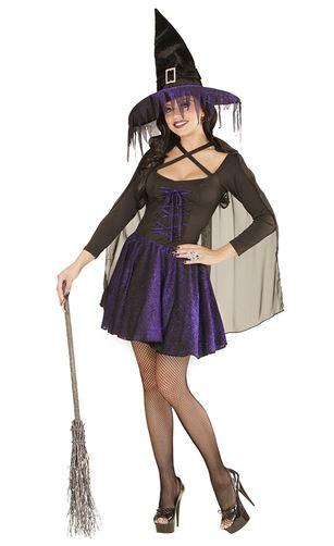 disfraz bruja violeta mujer halloween