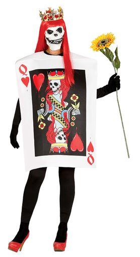 disfraz carta reina de calaveras halloween
