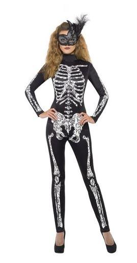 disfraz halloween esqueleto sexy