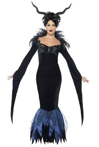 disfraz halloween señora cuervo oscuro deluxe