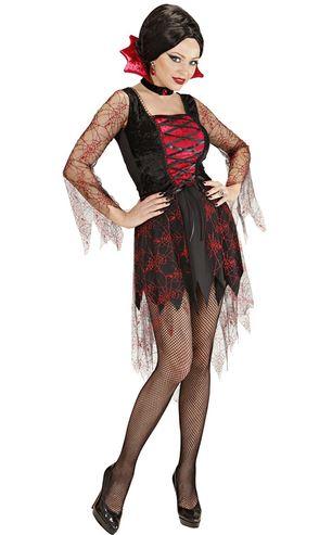 disfraz halloween vampiresa telaraña