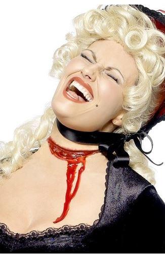 maquillaje halloween garganta cortada