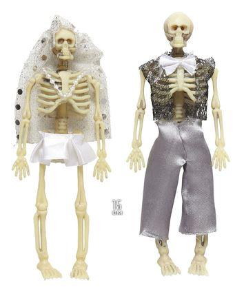 novios esqueleto halloween decorativos