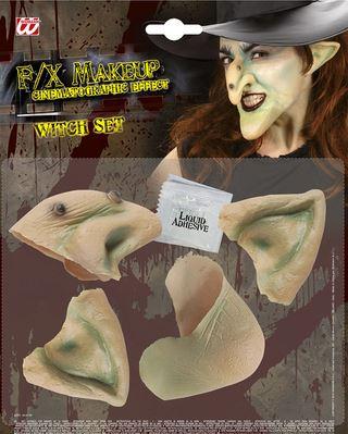 set de protesis de bruja halloween