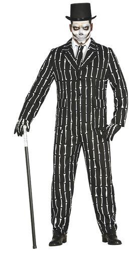 traje halloween de esqueleto