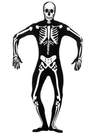 disfraz halloween esqueleto segunda piel