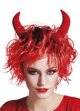 peluca halloween diablo