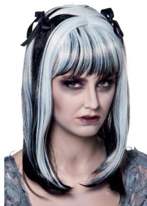 peluca halloween zombie fantasma