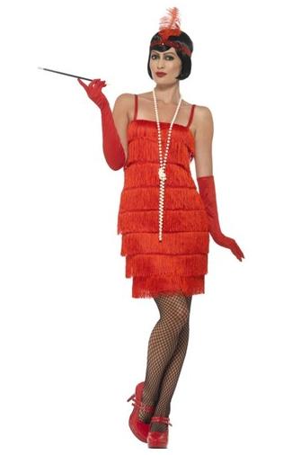 disfraz anos 20 rojo