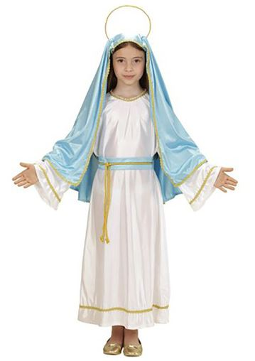 disfraz virgen maria nina
