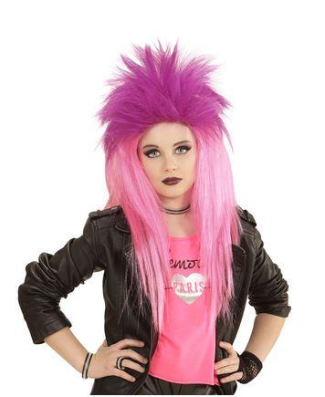 peluca punkarra rosa