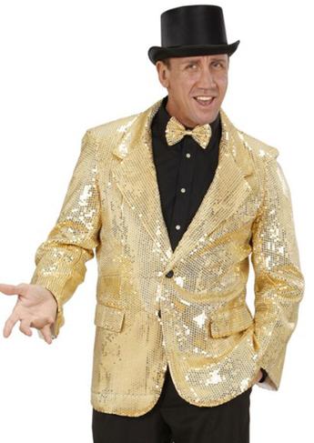 chaqueta dorada lentejuelas