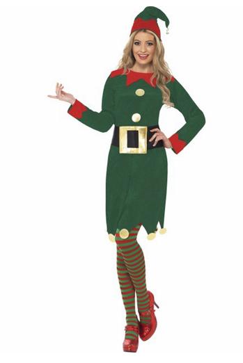 disfraz elfa verde