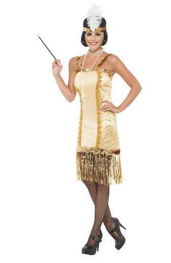 disfraz charleston dorado