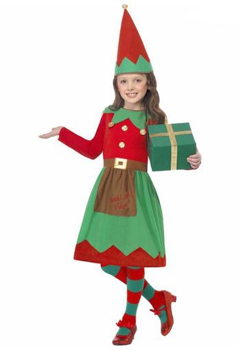 disfraz elfa nina