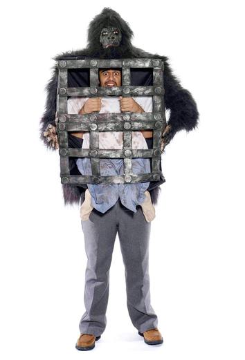 disfraz jaula gorila