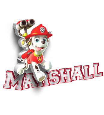 lampara 3d marshal
