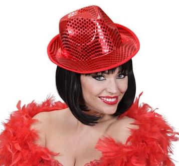 sombrero lentejuelas rojo