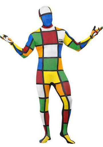 Disfraz Cubo Rubik segunda piel