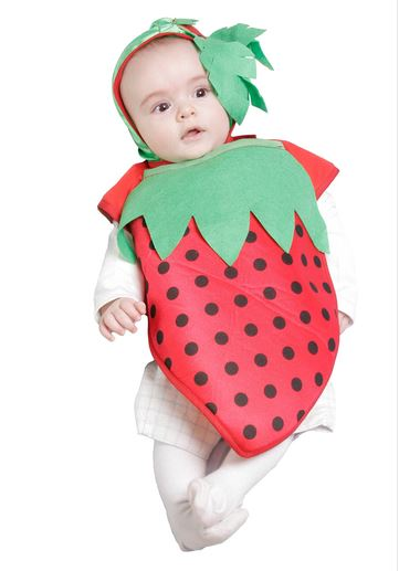 Disfraz fresa bebe