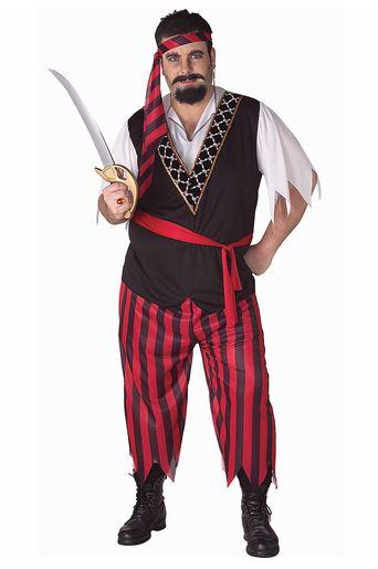 Disfraz pirata hombre talla grande